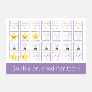 'I brushed my teeth' Reward Chart | Early Life Skills