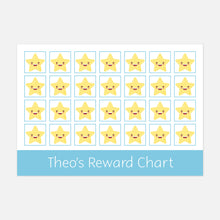 ersonalised reward chart for encouraging good behaviour or chores