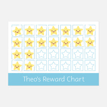 Personalised reward chart for encouraging good behaviour or chores