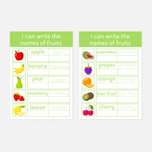 Personalised Fruit Read-Trace-Write Wipe Clean Learning Mats (2 Pack) <br /> <br /> More colours available