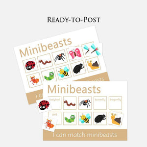 Minibeasts Learning Mats (2 Pack)