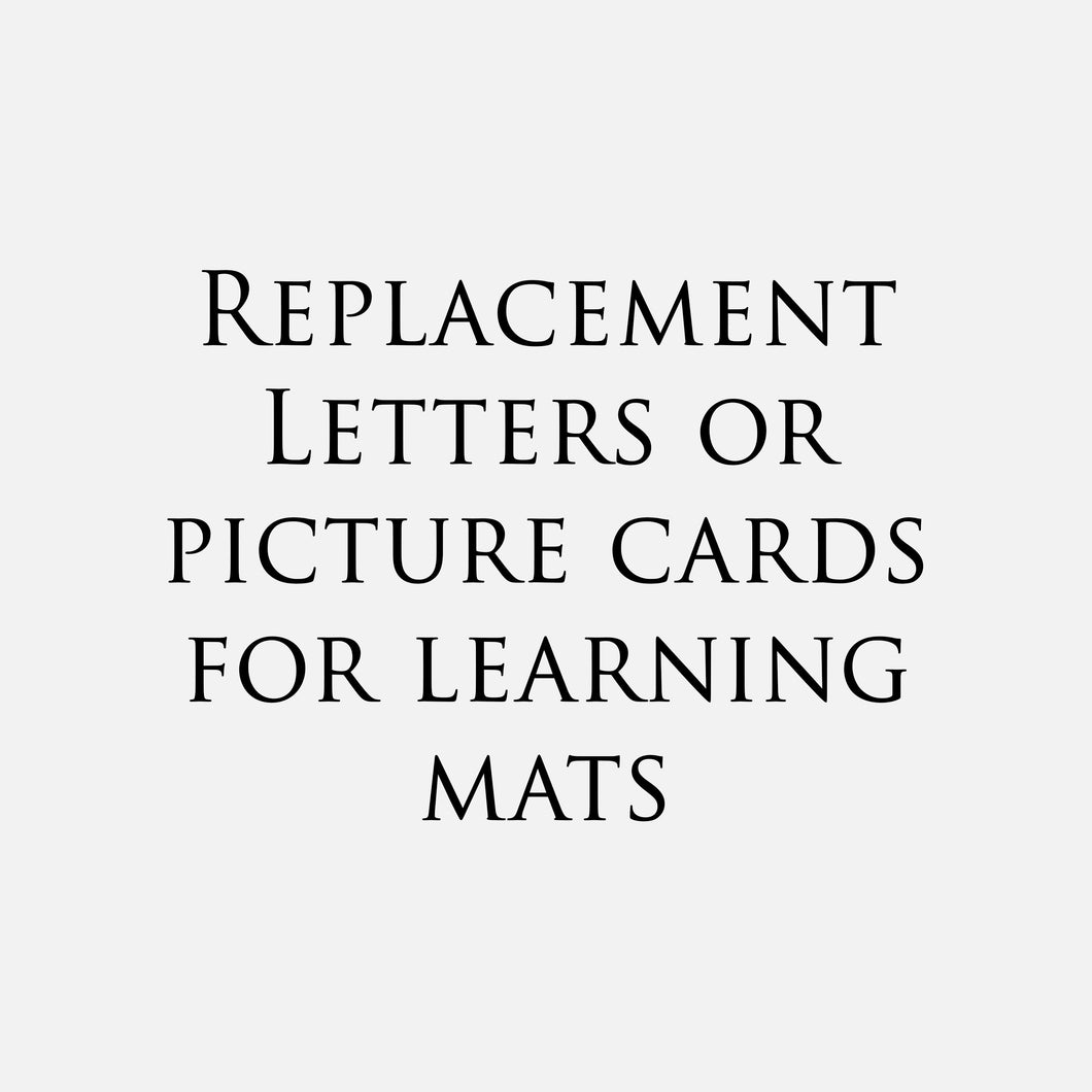 Replacement Letters/Picture Card for Learning Mat (Full Set)