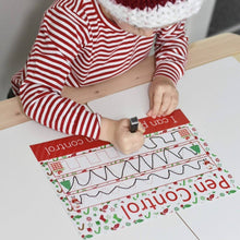 READY-TO-POST Wipe Clean Learning Mat Set - Chistmas Edition