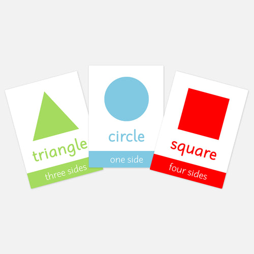 Shapes Flashcards for children and pre-schoolers. Toddler activities and learning resources