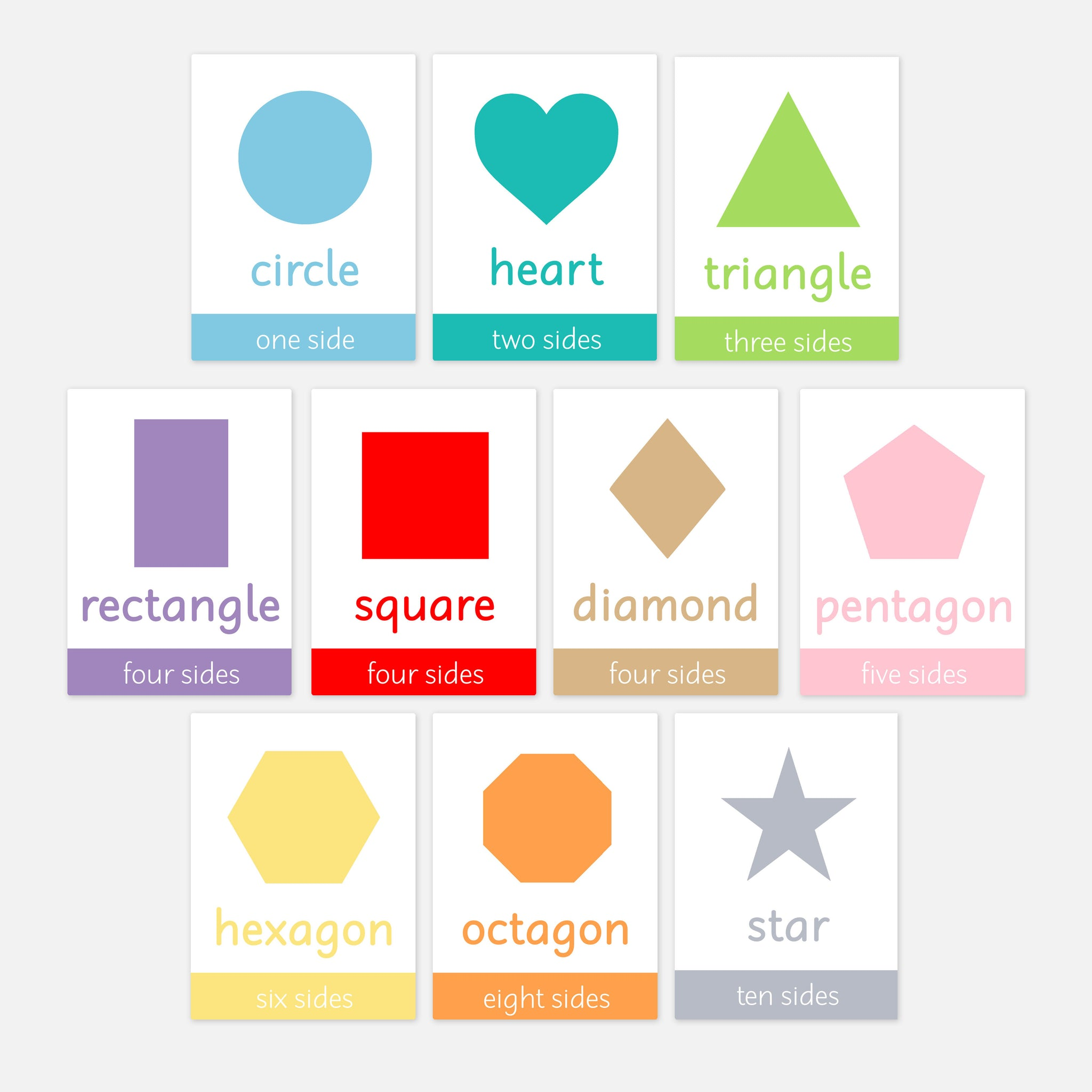 Shapes Flashcards Flash Cards For Toddlers And