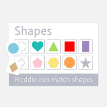 shapes velcro learning mat. toddler activities