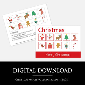 Christmas Matching Learning Mat | Printable Learning Resources by Little Boo Learning