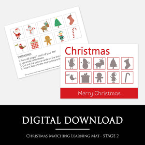 Christmas Matching Learning Mars | Printable Learning Resources by Little Boo Learning