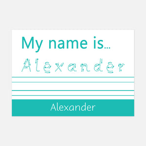 Trace it, copy it 'My name is' Wipe Clean Spelling Mat by Little Boo Learning