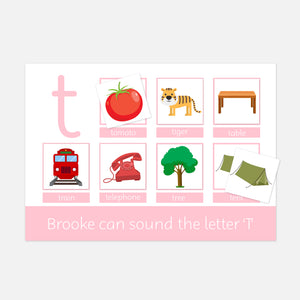 Early Phonics Phase 2 set 1 Velcro Learning Mat | Childrens Educational Learning Resources