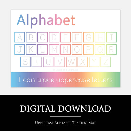 Uppercase Alphabet Handwriting Practice Mat | Digital Download by Little Boo Learning