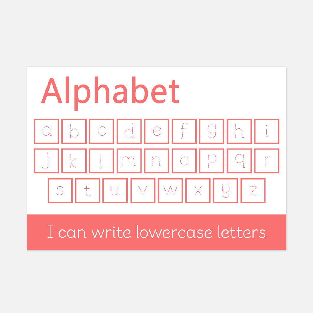 Lowercase Alphabet Learning Mat for Handwriting Practice by Little Boo Learning