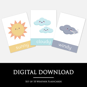 Weather Flashcards | Digital Download