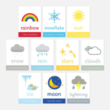 Weather Flashcards | Little Boo Learning Resources | Preschool, Toddler, Kids Education