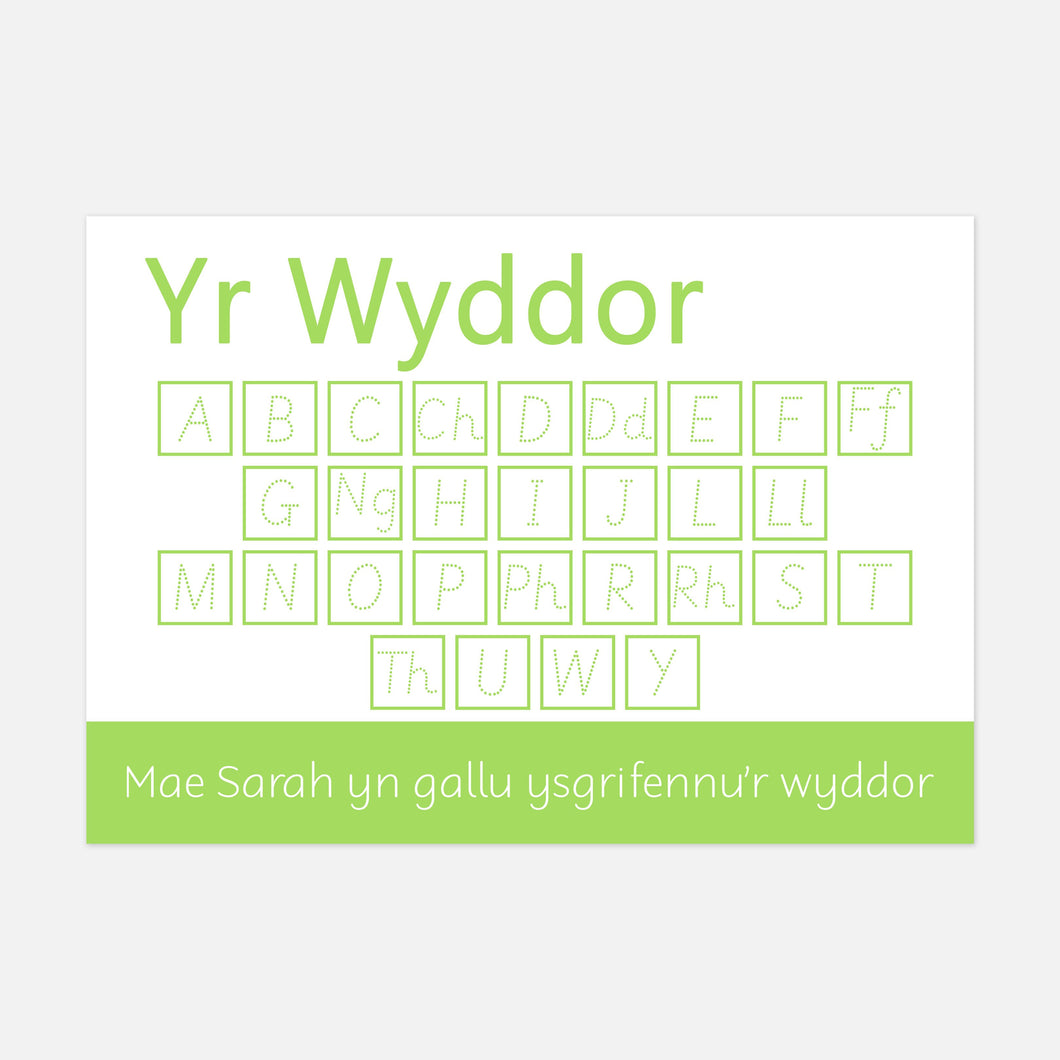 Yr Wyddor | Welsh Uppercase Alphabet Learning Mat, Resources for Toddlers & Pre-School Children