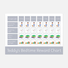 Bedtime Reward Chart with Velcro Stars by Little Boo Learning