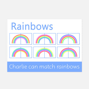 rainbow matching learning mat | Little Boo Learning
