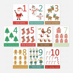 Christmas Number Flashcards by Little Boo Learning for Pre-School and Homeschool | Educational learning activities for children
