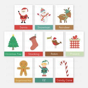 Christmas Word Flashcards by Little Boo Learning | Educational Resources for Pre-School and Homeschool