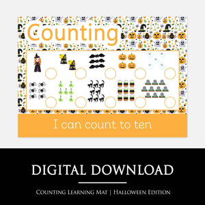 Halloween Counting Learning Mat | Digital Download