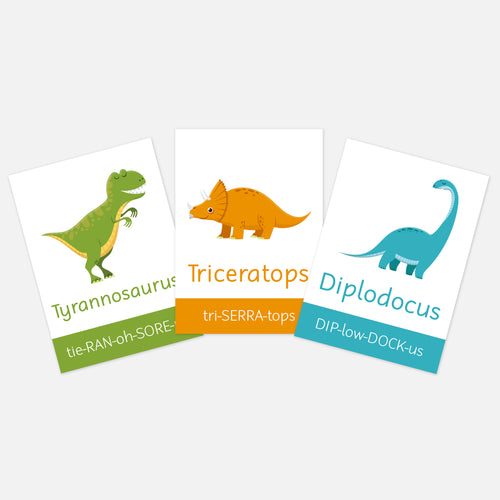 Dinosaur flashcards | Flash cards for kids, toddlers EYFS | Learning Resources