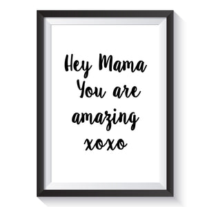 'Hey Mama' Print - Learning resources for toddlers and pre-school children
