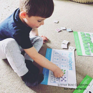 Personalised Numbers Learning Mat - Learning resources for toddlers and pre-school children