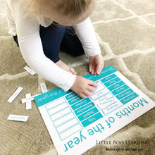 Personalised Months of the year Learning Mat - Learning resources for toddlers and pre-school children