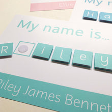 Personalised my name is spelling mat with velcro tabs to learn to spell your name suitable for toddlers learning activities and literacy
