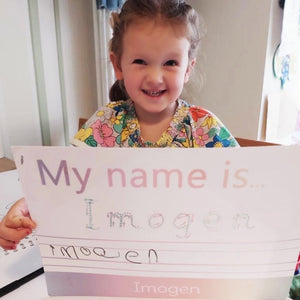 Personalised TRACE IT, COPY IT 'My Name is...' Spelling Mat (WIPE CLEAN)