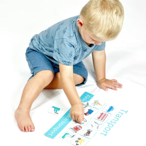 Personalised Transport Learning Mat - Learning resources for toddlers and pre-school children