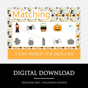 Halloween Shadow Matching Learning Mat | Digital Download