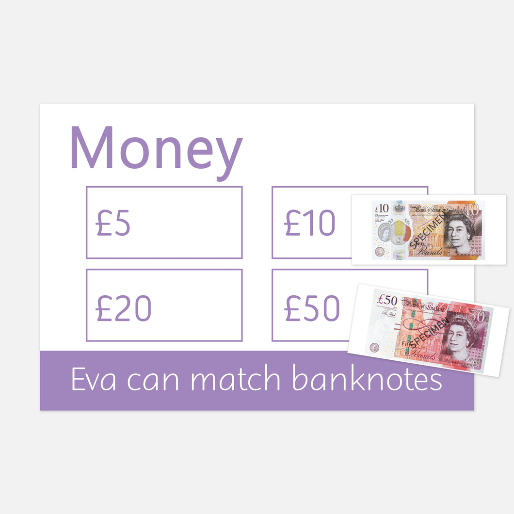money (banknotes) learning mat | resources for toddlers and pre-schoolers