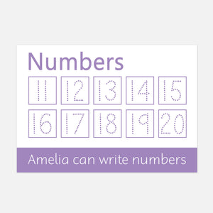 Wipe clean numbers 11-20 learning mats | EYFS | Little Boo Learning