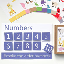 Numbers learning mat | EYFS educational numeracy activities | Number ordering for toddlers and pre-school children