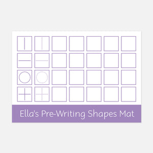 Pre-writing shapes learning mat | Suitable for Children aged 2-4 | EYFS Learning Resources