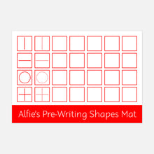 Pre-writing shapes learning mat | Suitable for Children aged 2-4