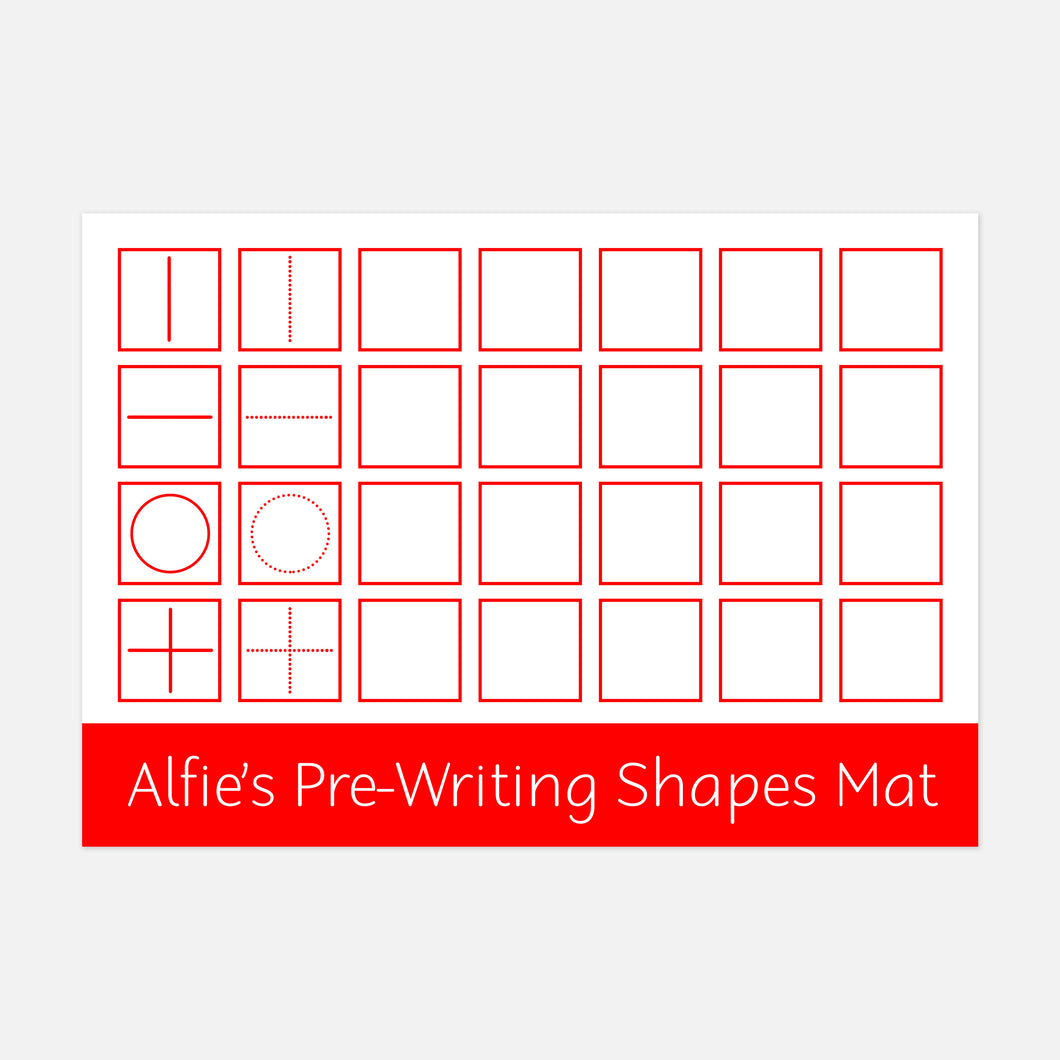 Pre-Writing Learning Mat - Stage 1 (Suitable for 2-4years) by Little Boo Learning