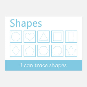 Shape Tracing Learning Mat | Educational Learning Resources by Little Boo Learning