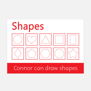 Shapes Handwriting Practice Learning Mat by Little Boo Learning
