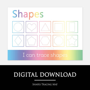 Shapes Tracing Learning Mat | Digital Download by Little Boo Learning