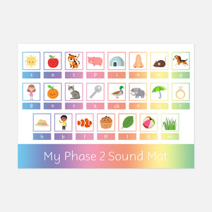 Phonics Phase 2 Sound Mat | Learn to read with Little Boo Learning | Educational resources for kids