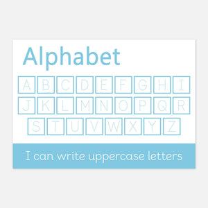 Uppercase Alphabet Handwriting Practise Learning Mat | Educational Learning Resources by Little Boo Learning