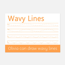 Wipe clean learning mats | Wavy Lines | Little Boo Learning