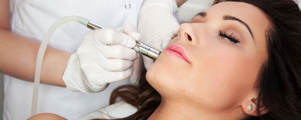 Oxygen infusion microdermabrasion