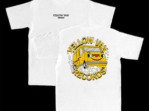 Yellow Van Records T-Shirt - Dream Van - WHITE