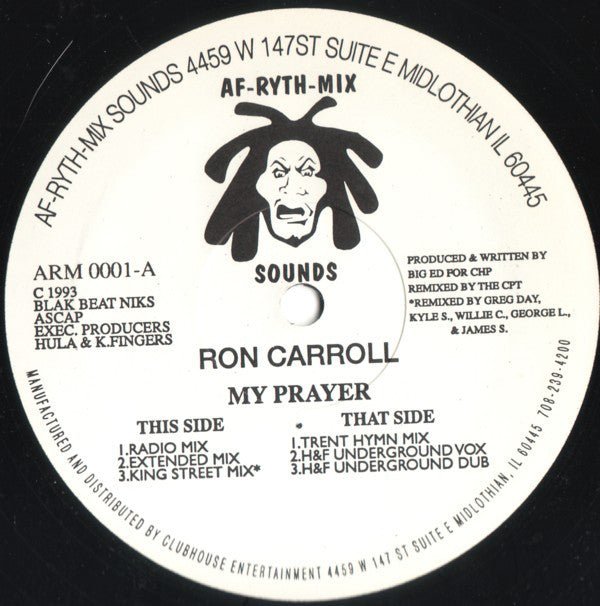 Ron Carroll ‎– My Prayer