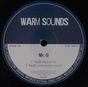 Mr. G ‎– Pulze / Jamming