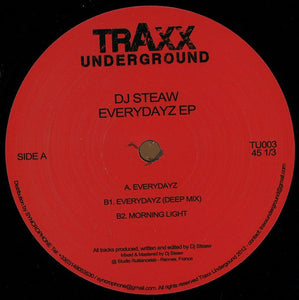 Dj Steaw - Everydayz EP (TU003)