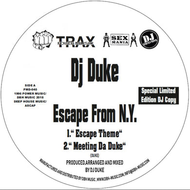 DJ Duke ‎– Escape From New York (PMD-040)